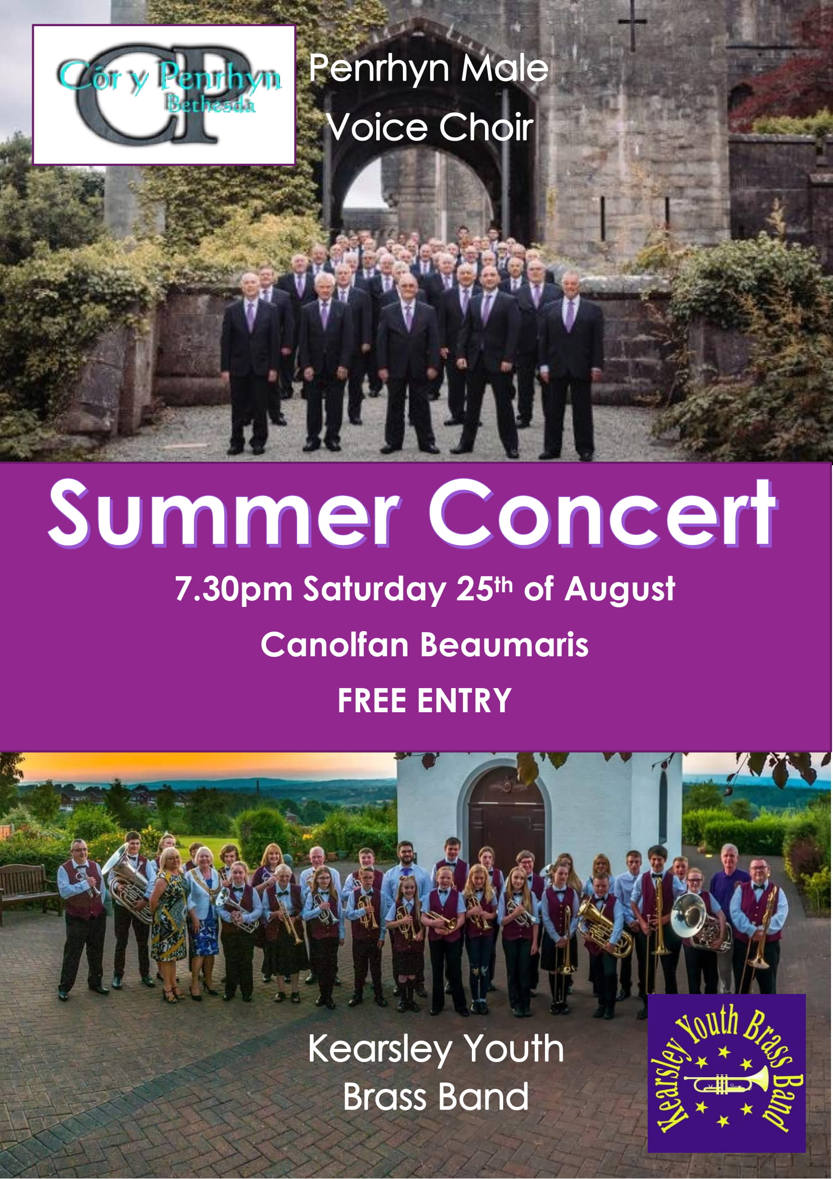 Côr Y Penrhyn Male Voice Choir Summer Concert