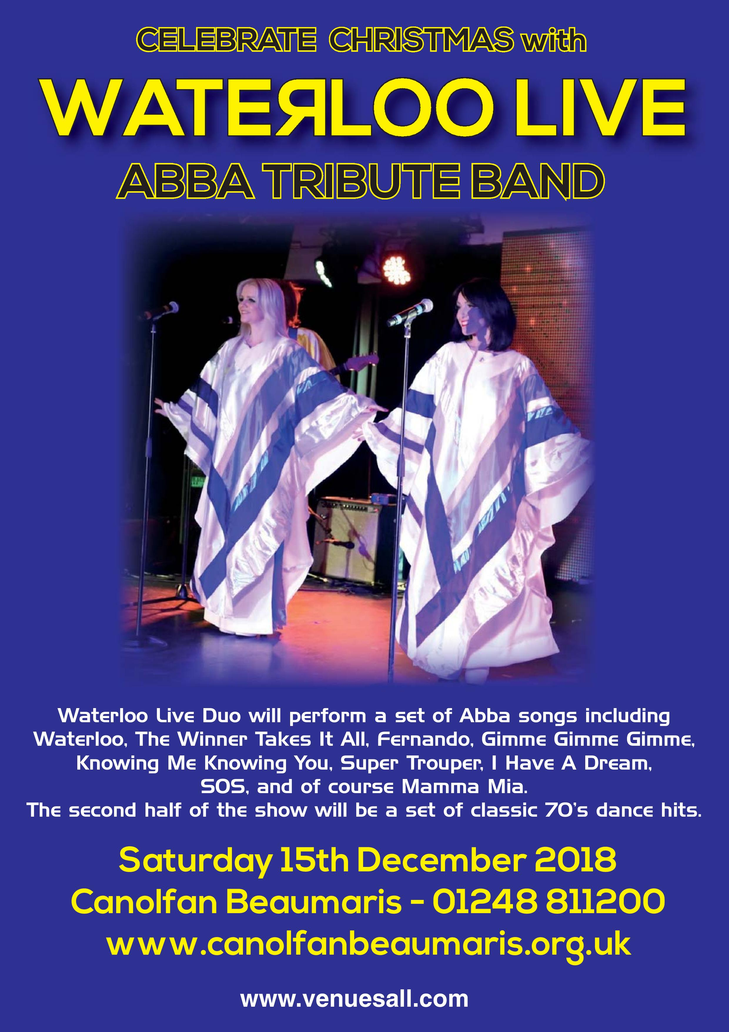 Celebrate Christmas With WATERLOO LIVE ABBA TRIBUTE BAND