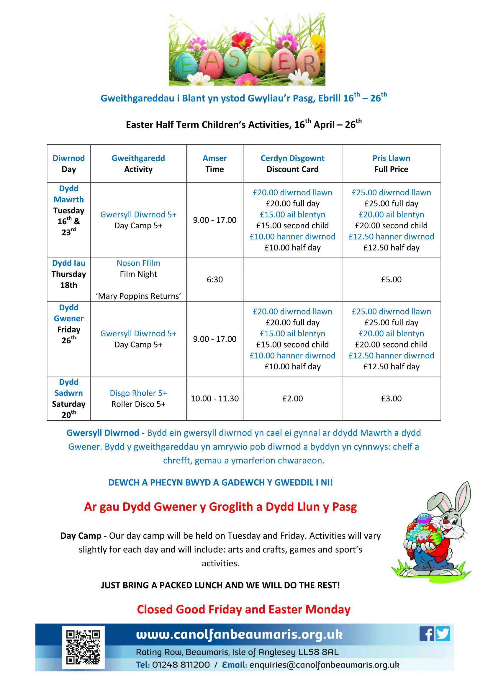 Easter: Children's Activities Pasg: Gweithgareddau I Blant